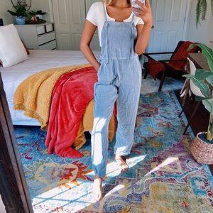 vintage denim boho overalls